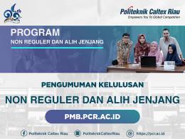 Gambar Hasil Seleksi Penerimaan Mahasiswa Baru Program Non Reguler D3 Rekognisi Pembelajaran Lampau dan Alih Jenjang D3 - D4 Tahun 2020 Politeknik Caltex Riau
