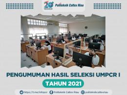 Gambar PENGUMUMAN HASIL SELEKSI UMPCR I TAHUN 2021