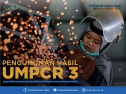 Gambar PENGUMUMAN HASIL UMPCR III TAHUN 2019